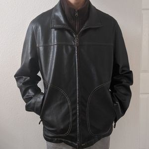 Columbia Faux Leather Jacket Sz M